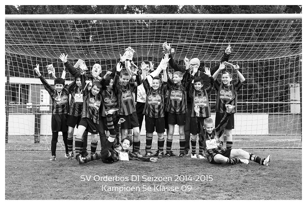 SV Orderbos D1 Kampioen 5e klasse 09 Seizoen 2014-2015