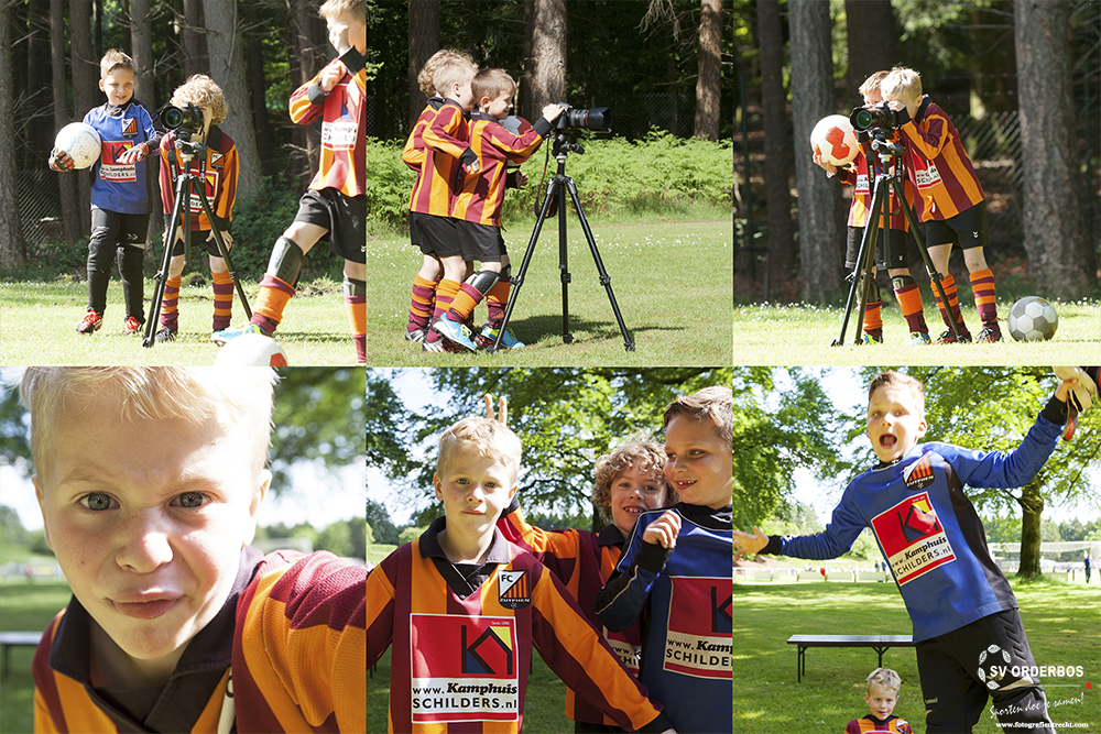 Kids playing with met camera @SVOrderbosToernooi2015 + Logo (Website)
